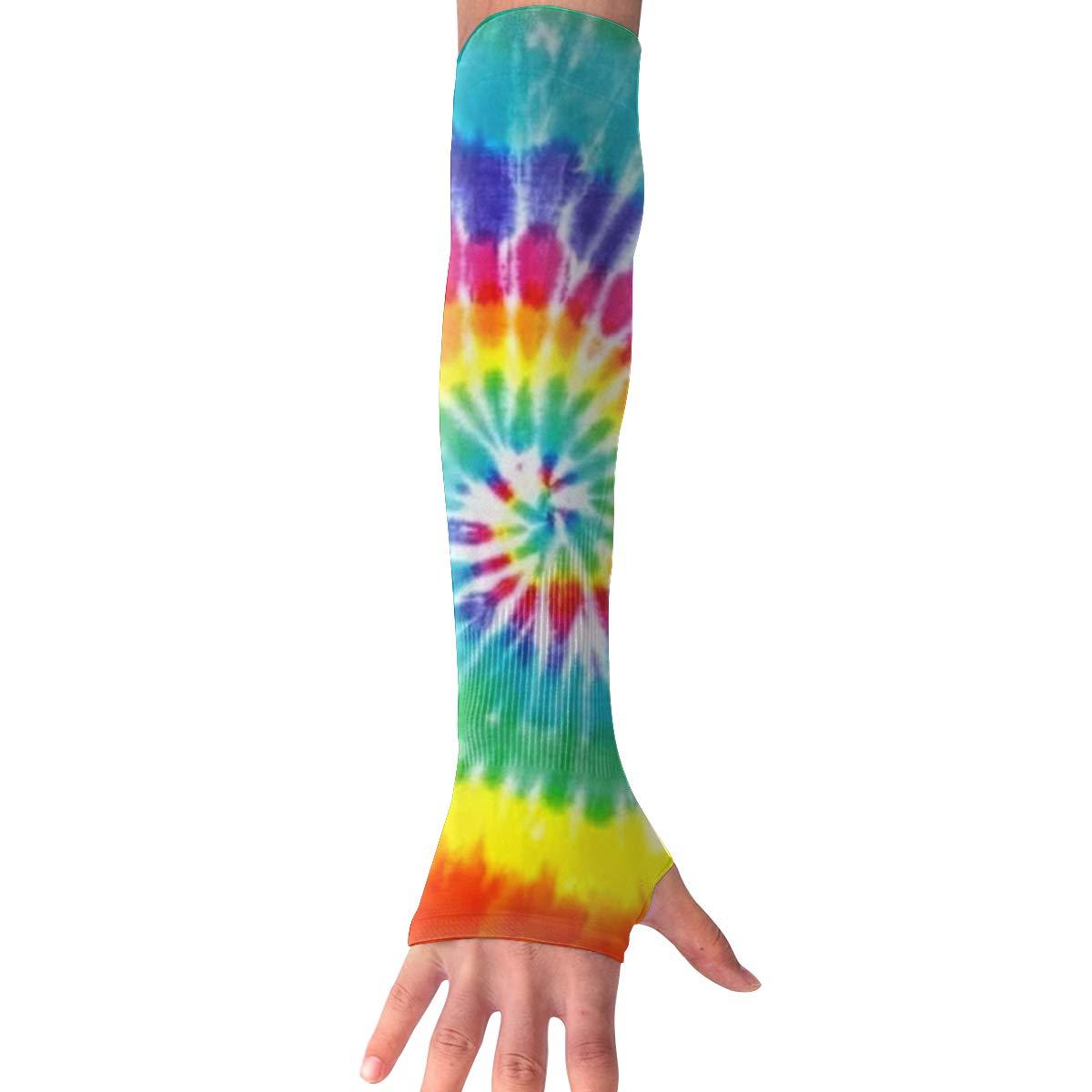Field Rain Arm Cooling Sleeves Tye Dye UV Sun Protection Arm Cover Hand Covers