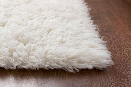 Super Area Rugs Hand Woven Soft Wool Flokati Shag Rug 9