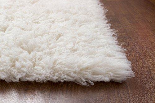 Super Area Rugs Hand Woven Soft Wool Flokati Shag Rug 9
