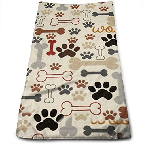 (YGRAA Dog Bones Paw Prints Premium, Luxury Hotel & Spa Quality, Cotton for Maximum Softness and Absorbency by Towels)