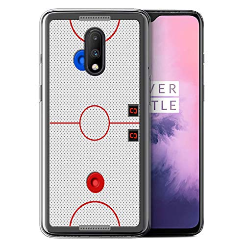 eSwish Gel TPU Phone Case/Cover for OnePlus 7 / Air Hockey Design/Games Collection