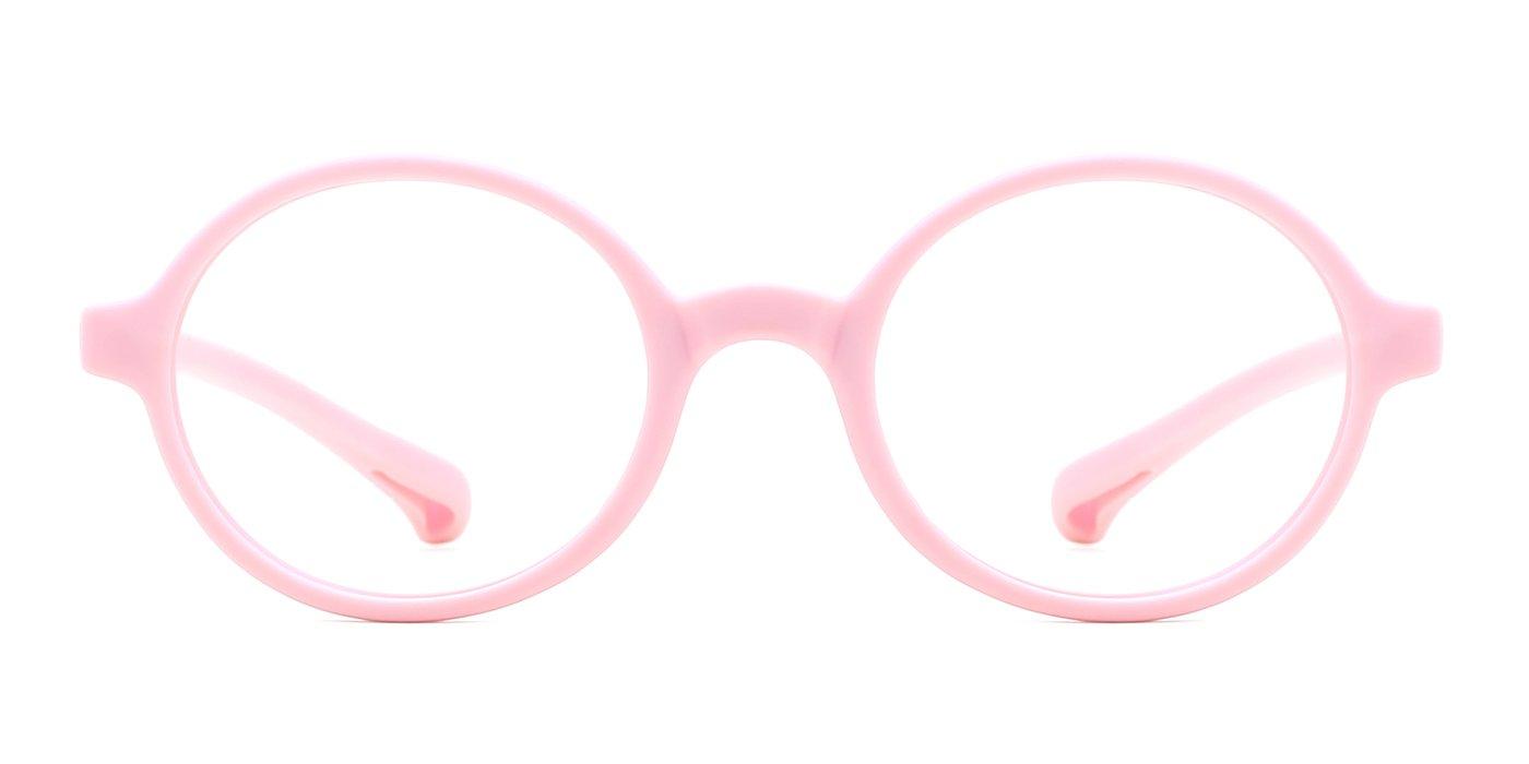 modesoda Kids Round Eyeglasses,Rubber Flexible Glasses Clear Lens for Boy Girls
