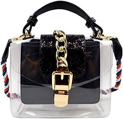 5d75a88790add AiSi Damen Mädchen mini Pailletten transparente Handtasche Umhängetasche  Party-Bag Damenhandtaschen Abendtasche mit Schulterriemen durchsichtig  Glitzer Look ...