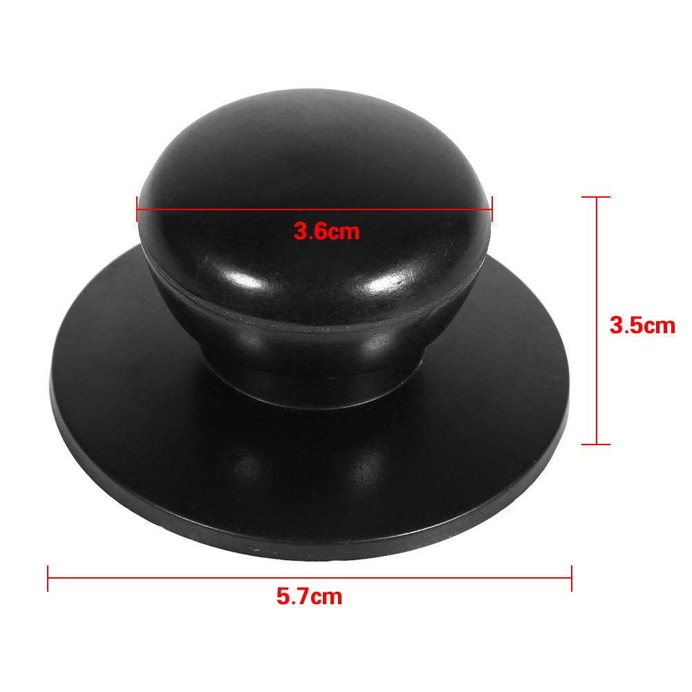 Black Pack of 2 Kitchen Cookware Saucepan Kettle Lid Replacement Universal Pot Knobs Cover Handles New