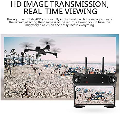 Goolsky SG106 Drone à Flux Optique avec Double Caméra 4K/1080P Grand Angle WiFi FPV Altitude Tenir Geste Photographie Quadricoptère avec Batterie (Noir, 1080P & 2Batteries)