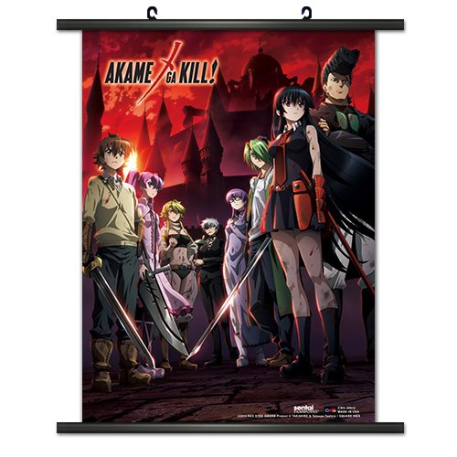 CWS Media Group CWS-28912 Akame ga Kill Anime Wall Scroll Po
