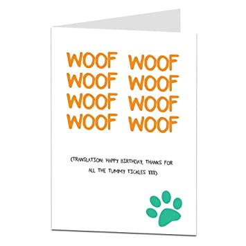 Happy Birthday Card From The Dog Pet For Owner Lover