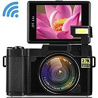 Seree Digital Camera Camcorder WiFi Vlogging Camera 2.7K...