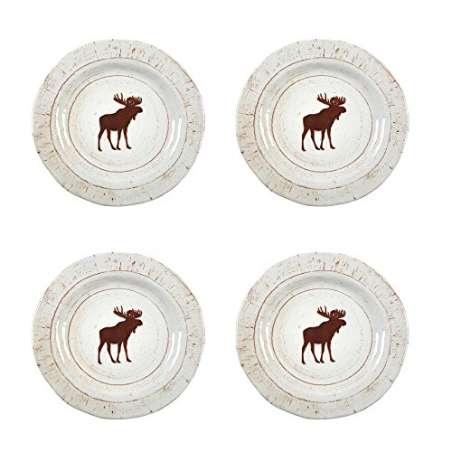 Rustico Moose Heavyweight Melamine Salad Plates, Set of ()