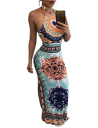 Drawstring Halter Dress - 1
