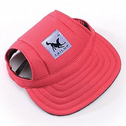 Mascota Perro Gato Poliéster Lienzo Sombrero Deportes Gorra de Beisbol con  Los Agujeros para los oídos 842ef224c99