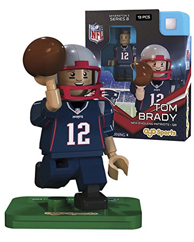 Nfl Gen3 New England Patriots Tom Brady Limited Edition Minifigures  Blue  Small