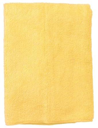 "Wilen E831016, Supremo Microfiber Cloth, 16"" Length x 16"" Width, Yellow, Bulk Pack (Case of 180)"