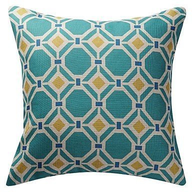 Lumimi Double-side Geometric Novelty Polygon Pattern Print Cotton Linen Pillow Cover( 20*36 in ?