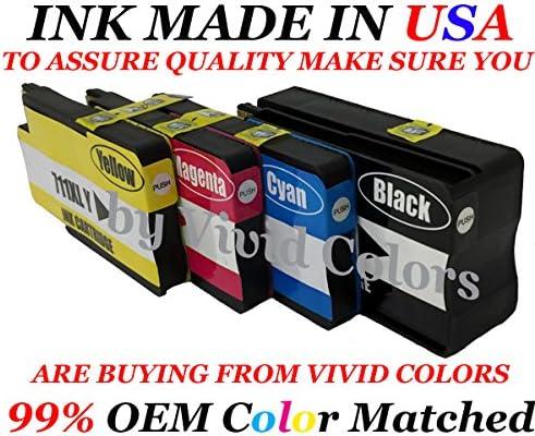 HP 711 (4pk): CZ130 A Cian CZ131 A Magenta CZ132 A amarillo cartucho CZ133 A negro cartucho de tinta para uso en Designjet T120 & T520: Amazon.es: Oficina y papelería