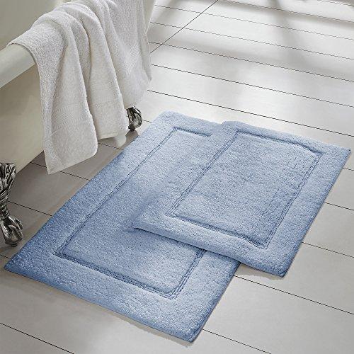 light blue bath rug set - 6