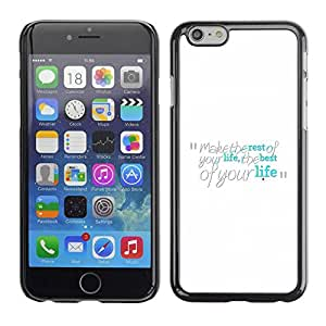 PC/Aluminum Funda Carcasa protectora para Apple Iphone 6 Make The Best Of Your Life / JUSTGO PHONE PROTECTOR