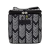 Sarah Wells Cold Gold Breastmilk Cooler Bag (Black & White) With Ice Pack