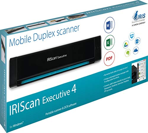IRISCan Executive 4 Duplex Portable Mobile Document Image Portable Color Scanner USB Powered (Renewed) by IRIS USA, Inc. (Image #5)