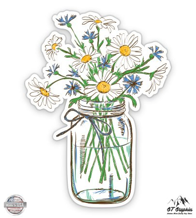 Daisies in Mason Jar - 3