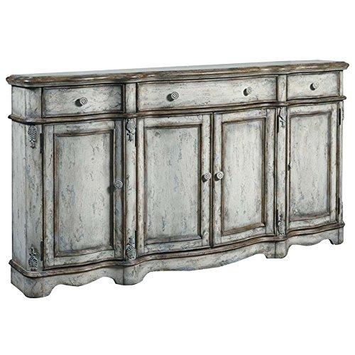 Antique Buffet Furniture (Pulaski  Rustic Vintage Credenza, Antique White)