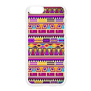 Aztec 3 White Hard Plastic Case for iPhone 6 by DevilleArt + FREE Crystal Clear Screen Protector