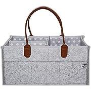 Baby Diaper Caddy | Baby Registry | Nursery Diaper Tote Bag | Portable Car Travel | Newborn Boy Girl Baby Essentials | Baby Shower Gifts | - By Beau & Friends