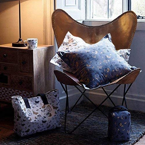 Handmade Tan Leather Arm Chair Leather Butterfly Chair Home Decor Vintage Leather Butterfly Chair Present