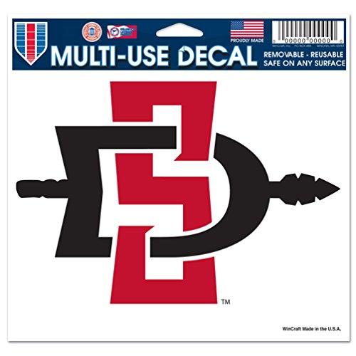 (WinCraft NCAA San Diego State University Multi-Use Colored Decal, 5