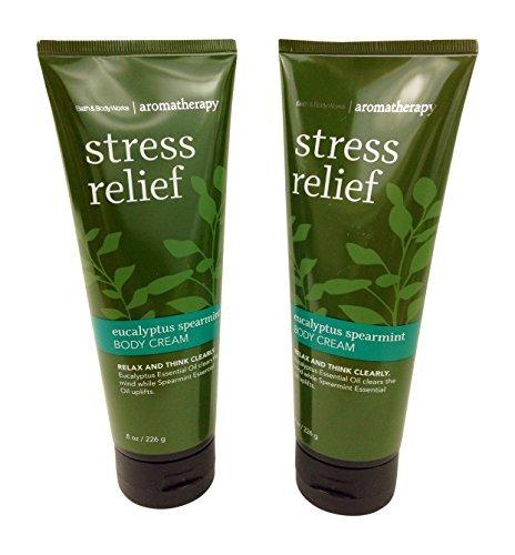 Cheap Bath & Body Works Aromatherapy Stress Relief Eucalyptus Spearmint Body Cream 8.0 oz, 226g (2 Pack)