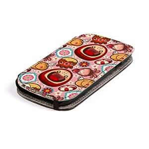 Diabloskinz L0079-0063-0002 Luckie Tooshie - Funda para Samsung Galaxy S3, piel, diseño de muñecos, multicolor