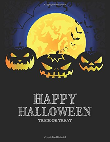 Happy Halloween: Notebook 110 Pages Lined and Blank Journal Diary for Halloween Gift Idea (8.5 x 11 Large) (Halloween Notebook for Gift) (Volume 6) (Happy Halloween Prayers)
