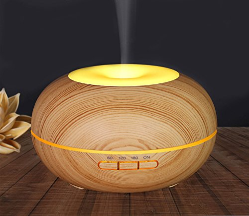 Homipooty 2017 The Latest Essential Oil Diffuser Ultrasonic Cool Mist Diffusers with 7 Color LED Lights Waterless Auto Shut-off,300ml for Home Office Yoga Spa by Homipooty (Image #4)