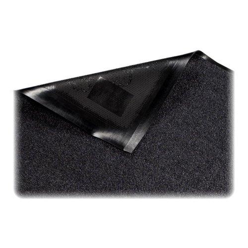 Wholesale CASE of 5 - Genuine Joe Platinum Series Walk-Off Indoor Mats-Indoor Mat, Nylon Carpet, Rubber Back, 4'x6', Gray