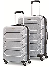 """Magnitude Lx 2 Piece Nested Hardside Set (20""""/24""""), Silver, Only at Amazon"""