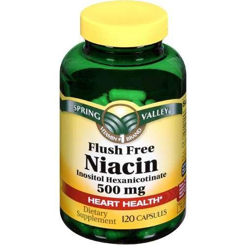 Spring Valley Dietary Supplement Flush Niacin gratuit 120 CT