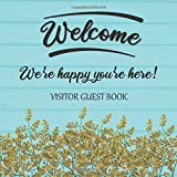 Visitor Guest Book Welcome We're Happy You're