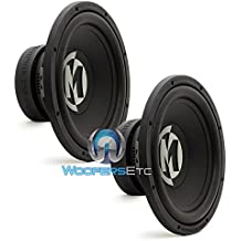 """(2) PR12S4V2 - Pair of Memphis Power Reference 12"""" SVC 4 Ohm Subwoofers"""