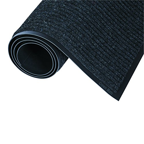 "Crown NR0023CH Needle-Rib Wiper/Scraper Mat Polypropylene, 24"" by 36"", Charcoal"