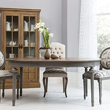 Gallery Direct Maison Round Dining Room Set Mindy Ash Grey King