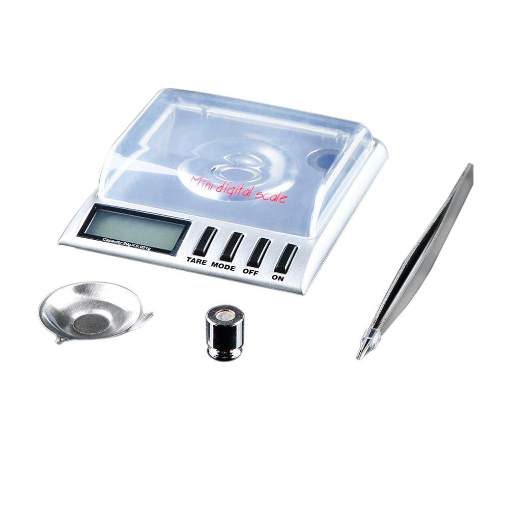 Digital Milligram Pocket Scale, Baynne 0.001g/20g Mini Size Digital LCD Balance Weight Milligram Pocket Jewelry Diamond Scale Portable Balance Weight