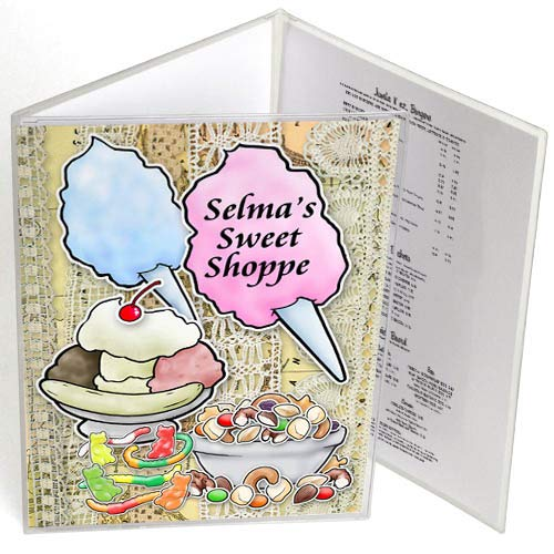 (StoreSMART - 6-View Menu Covers - Tri-Fold - 8 1/2