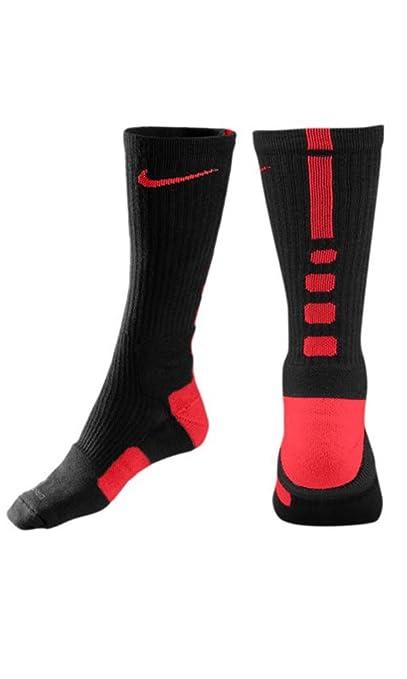 NIKE Elite Basketball Crew Socks Small Black Varsity Red