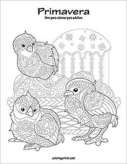 Amazoncom Primavera Libro Para Colorear Para Adultos 1 Volume 1