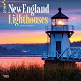 New England Lighthouses 2016 Square 12x12 Wall Calendar