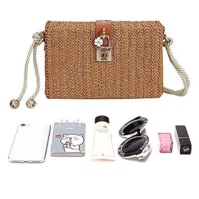 Amazon.com: Monique - Bolso para mujer (tejido de paja ...