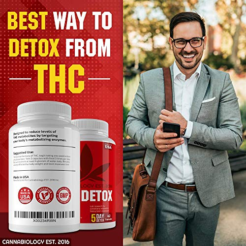 THC Detox Made in USA - BIO-Cleanse - Liver Detox, Urinary Tract & Kidney Cleanse - 5 Day Detox - Broad-Spectrum Toxin Cleanse - Natural THC Remover - Milk Thistle, Cranberry - Vegetarian Capsules by Cannabiology Est. 2016 (Image #4)