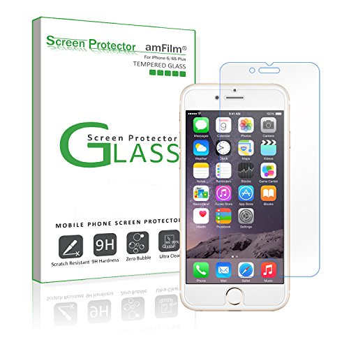 amFilm iPhone 6S Plus Tempered Glass Screen Protector  for i