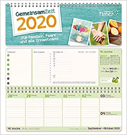 Gemeinsam Zeit 2020 Wochen Tischkalender Für Familien Paare