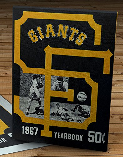 1967 Vintage San Francisco Giants Yearbook - Canvas Gallery Wrap - 11 x 14